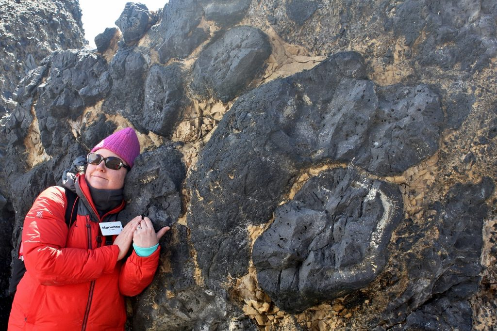 Resting my head on a pillow which turned out to be a volcanic bomb.